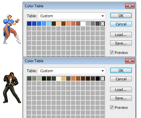 "as Photoshop so helpfully illustrates here with the ""Color Table"" tool"