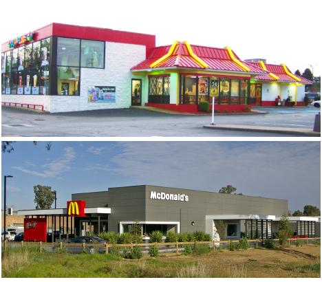 McDonald's then and now