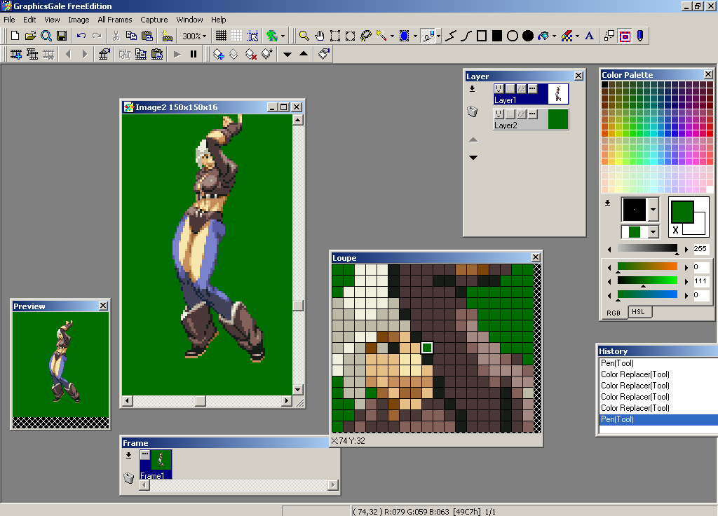 GraphicsGale: not a bad way to learn spriting
