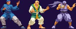 Street Fighter 1 sprites