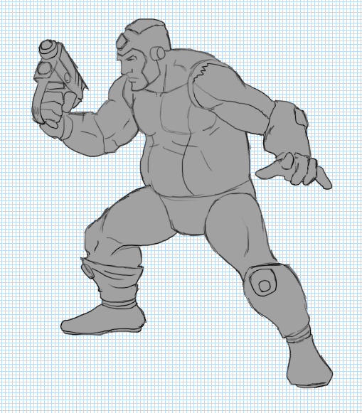 Fill in the sprite's linework with a base shadow gray